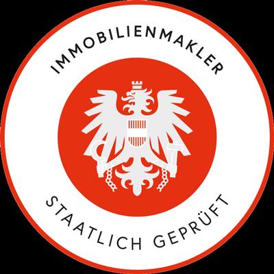 Logo staatlich geprüfter Immobilienmakler